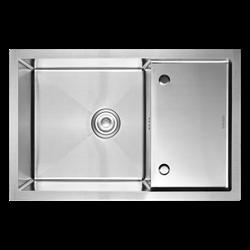 Кухонная мойка из нержавеющей стали Gerhans K37850-Х (780х500 мм) - фото 10238