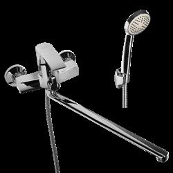 WISENT 22243 смеситель для ванной с изливом 40 см. и душем - фото 10352
