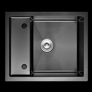 Кухонная мойка из нержавеющей стали Gerhans K36050B-Х (600х500 мм) с PVD покрытием