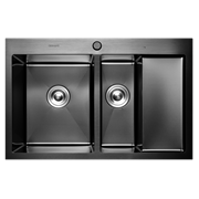 Кухонная мойка из нержавеющей стали Gerhans K37851B-SL (780х510 мм) с PVD покрытием