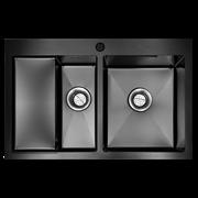 Кухонная мойка из нержавеющей стали Gerhans K37851B-SR (780х510 мм) с PVD покрытием