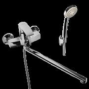 WISENT 22243 смеситель для ванной с изливом 40 см. и душем