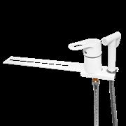 Смеситель с гигиеническим душем для унитаза Wisent 5221W Белый (Псевдо-биде)