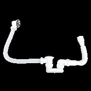 Итальянский сифон для ванной с гибким шлангом WISENT 890+3602
