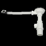 Итальянский сифон для кухонной мойки с прямоугольным переливом WISENT GER010